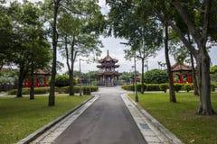 Landschap van het gebouw en het park in Taipeh Taiwan Stock Afbeeldingen