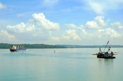 Landschap van het Kanaal van Panama royalty-vrije stock afbeeldingen