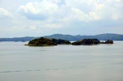 Landschap van het Kanaal van Panama stock foto