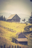 Landschap van het land in het gebied van Transsylvanië Stock Afbeelding