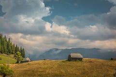 Landschap van het land in het gebied van Transsylvanië Royalty-vrije Stock Fotografie