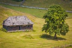 Landschap van het land in het gebied van Transsylvanië Royalty-vrije Stock Afbeeldingen
