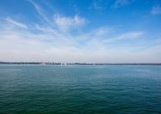 Landschap van het Meer van Konstanz in Zwitserland in de zomer Stock Foto's