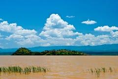 Landschap van het meer van Victoria in Kenia Royalty-vrije Stock Afbeelding