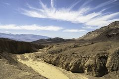 Landschap van het Nationale Park van de Doodsvallei van de Kunstenaar Driv Royalty-vrije Stock Fotografie