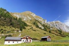 Landschap van het omringende gebied van Lucknerhaus, Kals am Grossglockner, Oostenrijk stock fotografie