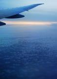 Landschap van het vliegtuig. Stock Afbeelding