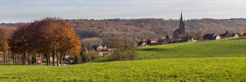 Landschap van het zuidelijke Limburg gebied van DE in Nederland royalty-vrije stock foto