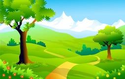 Landschap van Himalayagebergte-Vectorillustratie Royalty-vrije Stock Foto
