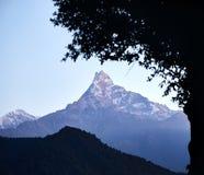 Landschap van Himalayan-Bergen royalty-vrije stock afbeelding