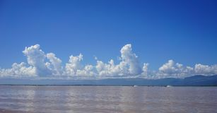 Landschap van Inle-Meer, Myanmar royalty-vrije stock afbeelding