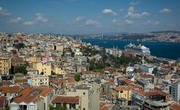 Landschap van Istanboel, Turkije Royalty-vrije Stock Afbeelding