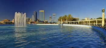 Landschap van Jacksonville de stad in in Florida, de V.S. royalty-vrije stock fotografie