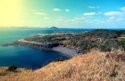 Landschap van Jeju-Eiland, Zuid-Korea Stock Foto