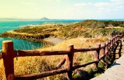 Landschap van Jeju-Eiland, Zuid-Korea Royalty-vrije Stock Fotografie
