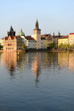 Landschap van kade in Praag Royalty-vrije Stock Afbeelding