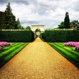 Landschap van kasteel het ashby tuinen royalty-vrije stock fotografie