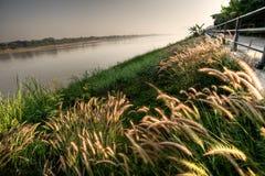 Landschap van Khong-rivier royalty-vrije stock afbeelding