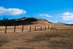 Landschap van Koeeiland in Jeju-Eiland, Zuid-Korea Stock Afbeelding