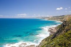 Landschap van kust in Nieuw Zuid-Wales Stock Foto