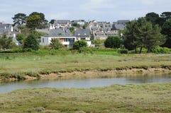 Landschap van l Ile Grande in Bretagne Stock Afbeelding