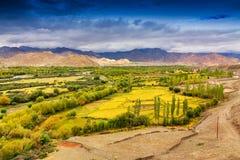 Landschap van Ladakh, Jammu en Kashmir, India Royalty-vrije Stock Afbeeldingen