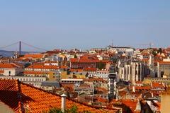 Landschap van Lissabon. Royalty-vrije Stock Afbeelding