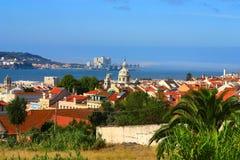 Landschap van Lissabon, Portugal. Stock Afbeelding