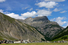Landschap van Livigno Stock Afbeeldingen