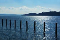 Landschap van Meer Balaton, Hongarije Royalty-vrije Stock Fotografie
