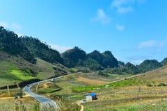 Landschap, landschap van Moc Chau, Zoonsla, Vietnam royalty-vrije stock foto