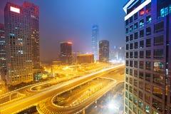 Landschap van moderne stad, Peking Stock Foto