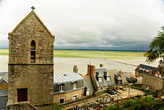 Landschap van Mont Saint Michel, Normandië, Frankrijk Royalty-vrije Stock Foto's