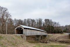 Landschap van MT Zion Covered Bridge royalty-vrije stock foto's