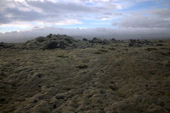 Landschap van Myrdalsandur het Zuidelijke IJsland met vulkanische outwash Royalty-vrije Stock Foto