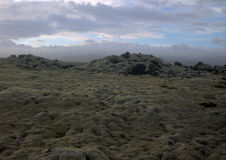Landschap van Myrdalsandur het Zuidelijke IJsland met vulkanische outwash Stock Foto
