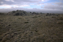Landschap van Myrdalsandur het Zuidelijke IJsland met vulkanische outwash Stock Foto's