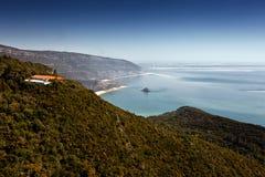 Landschap van Nationaal Park Arrábida. Royalty-vrije Stock Foto's