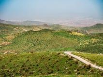 Landschap van natuurlijk groen gebied van afyon Royalty-vrije Stock Fotografie