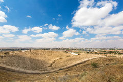 Landschap van Negev Stock Foto's