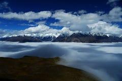 Landschap van Onderstel Gongga stock fotografie