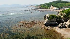 Landschap van overzees strand royalty-vrije stock foto