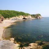Landschap van overzees strand Stock Afbeeldingen