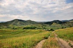 Landschap van Paclele Mici, dichtbij Moddervulkaan royalty-vrije stock afbeelding