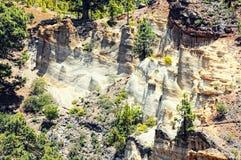 Landschap van Paisaje van de rotsvorming het Maan, vulcanic op Tenerife Royalty-vrije Stock Foto