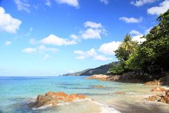 Landschap van Patong-strand, Phuket, Thailand Stock Afbeelding
