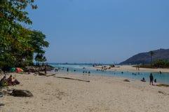 Landschap van Phuket-Meningspunt in Nai Harn Beach Located in Phuket-Provincie, Thailand Stock Foto