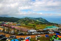 Landschap van phuton Berg phetchabun , reisseizoen in Thailand Stock Foto's