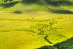 Landschap van Piano Di Castelluccio Stock Afbeeldingen
