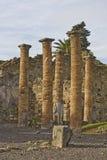 Landschap van Pompei ruïnes Stock Foto's